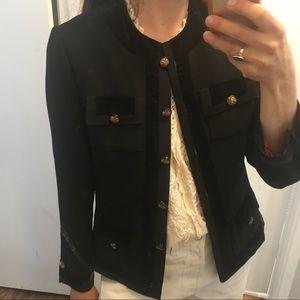 Chanel style vintage black jacket S